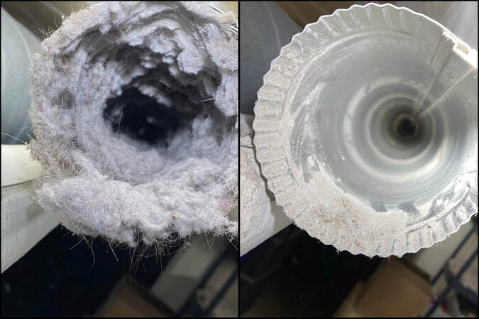 Commercial Dryer Vent Cleaning Before and After